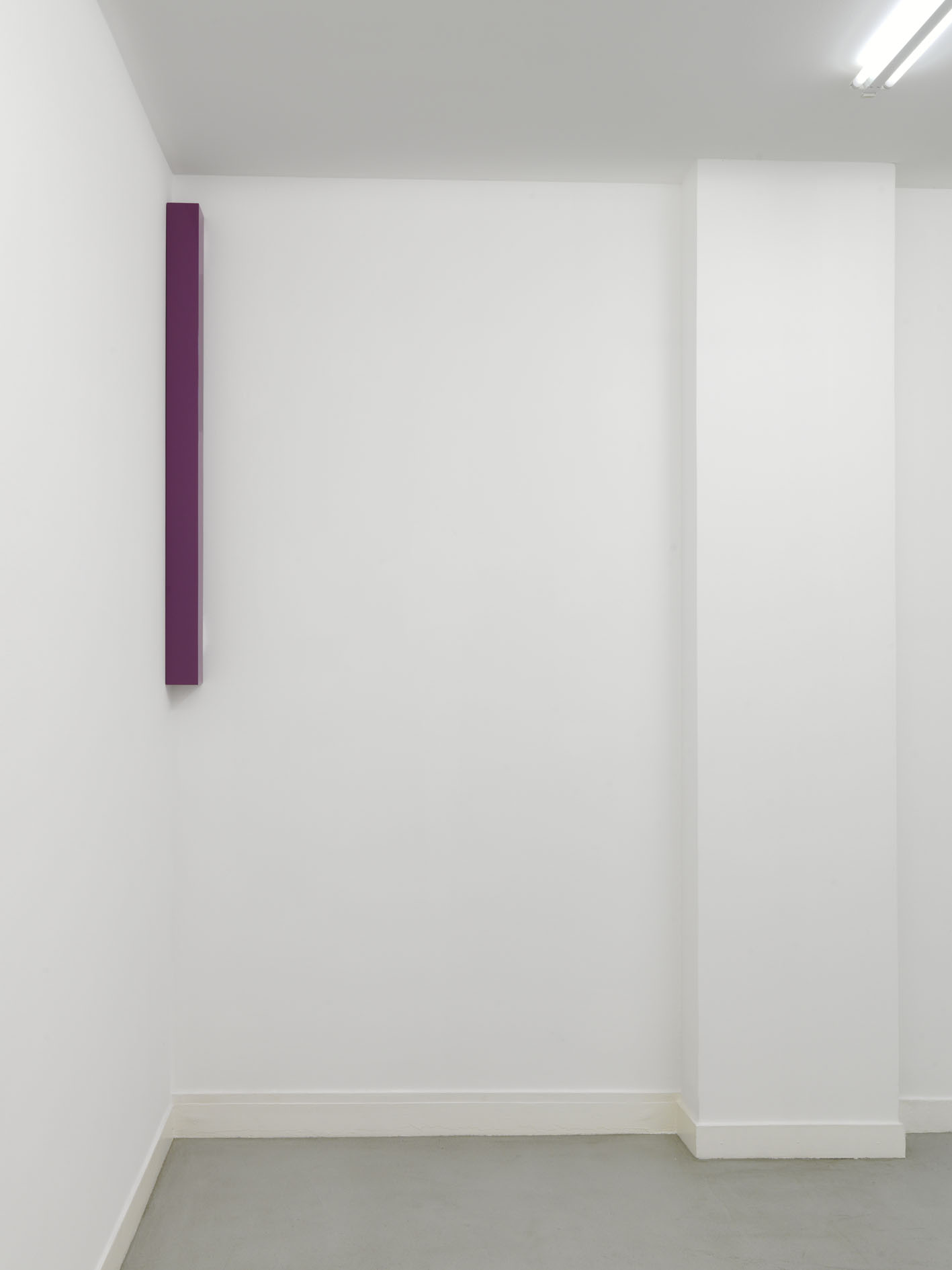 Gianni Piacentino Dark Red-Purple Small Pole III, 1966