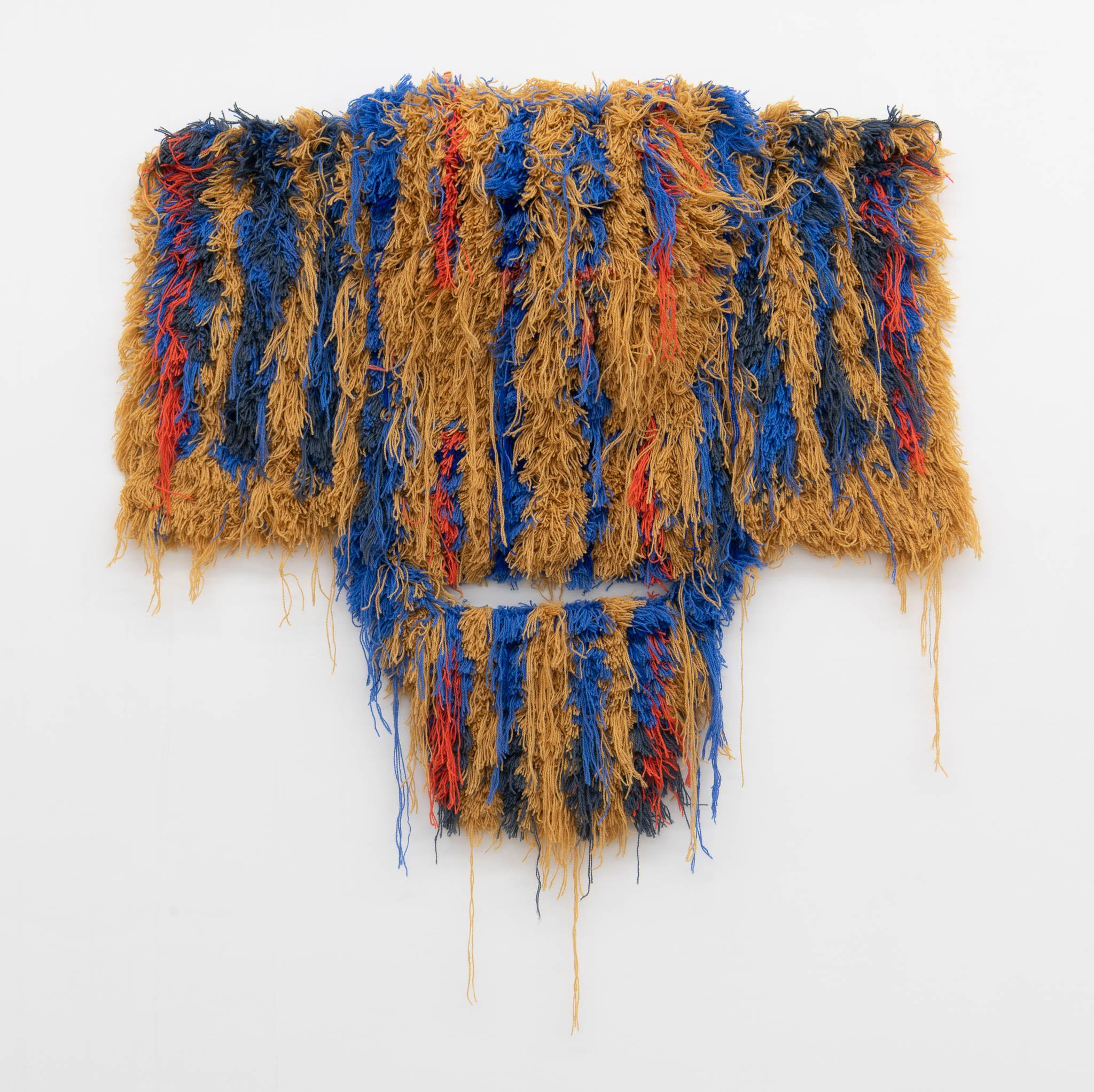 . Caroline Achaintre Herbert, 2018, lana tastata a mano; Courtesy Galerie Art : Concept; foto Giorgio Benni