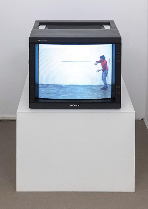 Esther Kläs Horizonte (rot), 2017, single channel video; Courtesy Xavier Hufkens, Brussels; photo Giorgio Benni