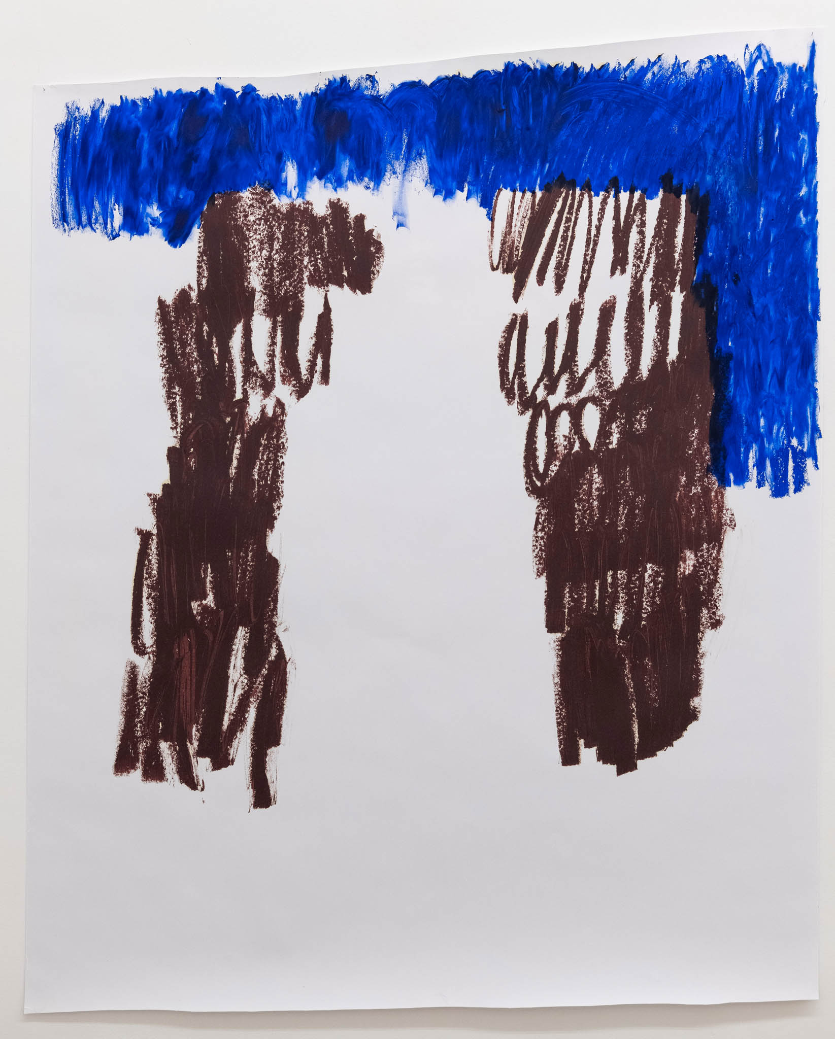 Esther Kläs NY/SKY, 2018, oil stick on paper; Courtesy the artist and Peter Blum Gallery, New York; photo Giorgio Benni
