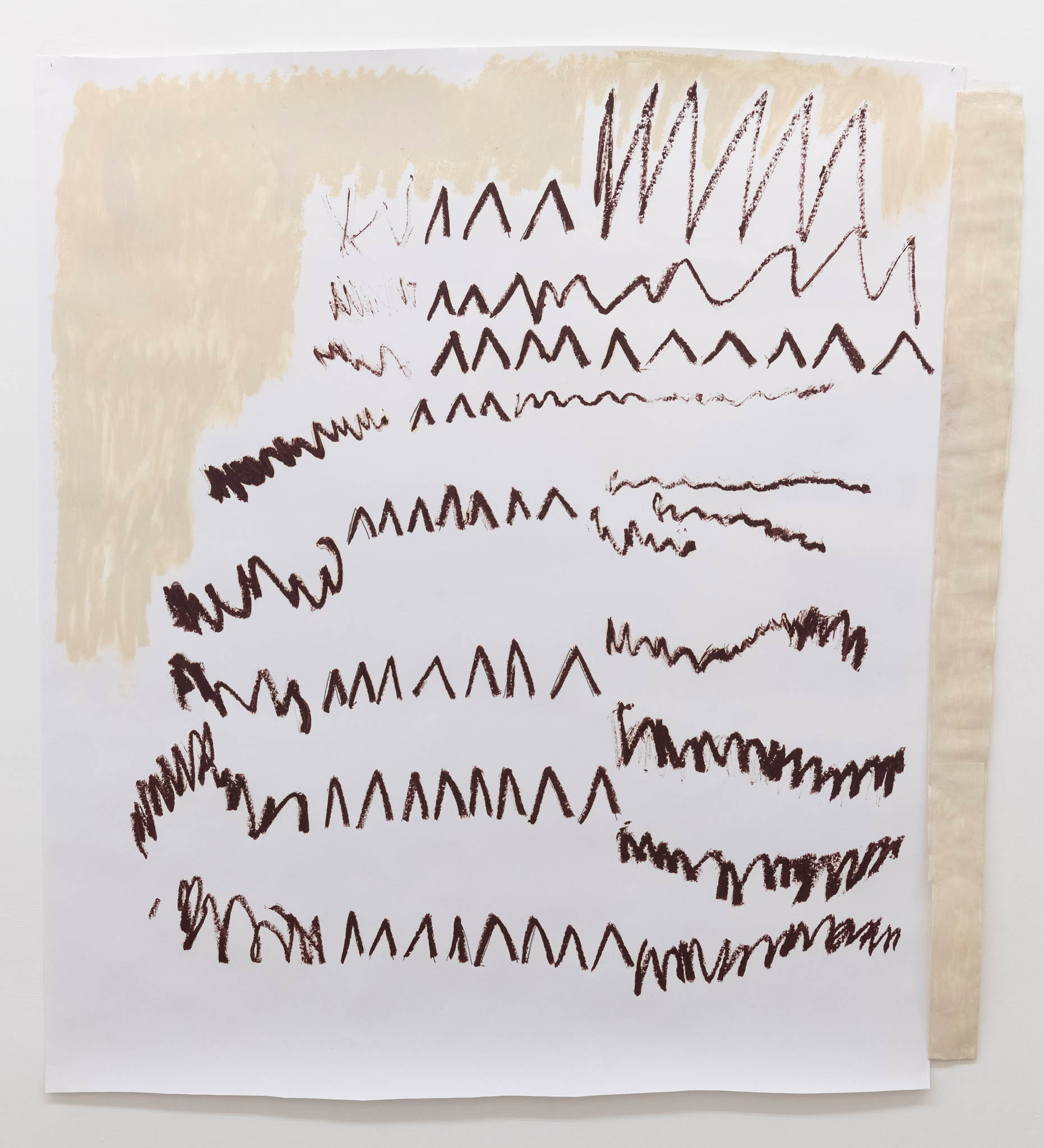 Esther Kläs NY/THERE, 2018, oil stick on paper; Courtesy the artist and Peter Blum Gallery, New York; photo Giorgio Benni
