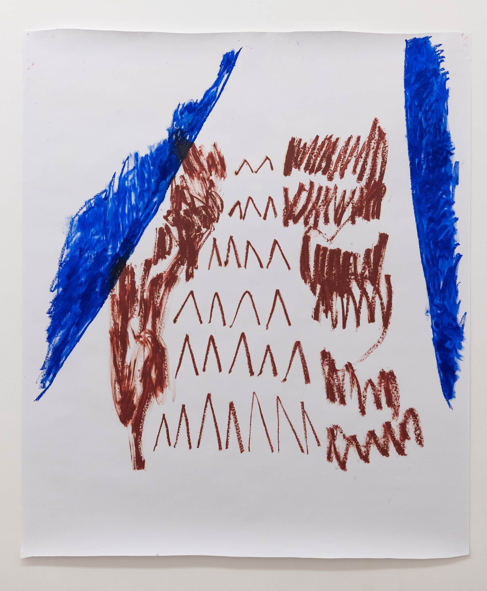 Esther Kläs NY/FLY, 2018, oli stick on paper; Courtesy the artist and Peter Blum Gallery, New York; photo Giorgio Benni