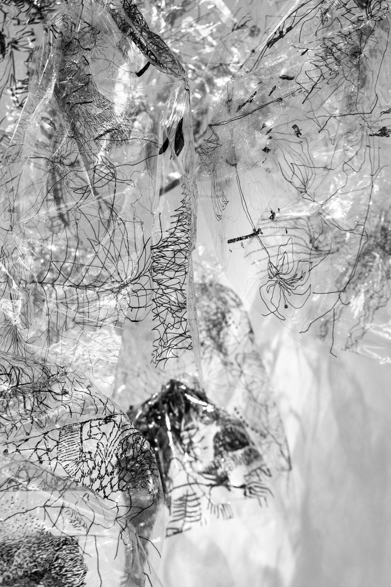 Ogni cosa è un'altra (dettaglio), 2017 – in progress 34 disegni su cellofan; dimensioni variabili;  foto: Giorgio Benni.  Courtesy l'artista e Monitor Roma, Lisbona, Pereto