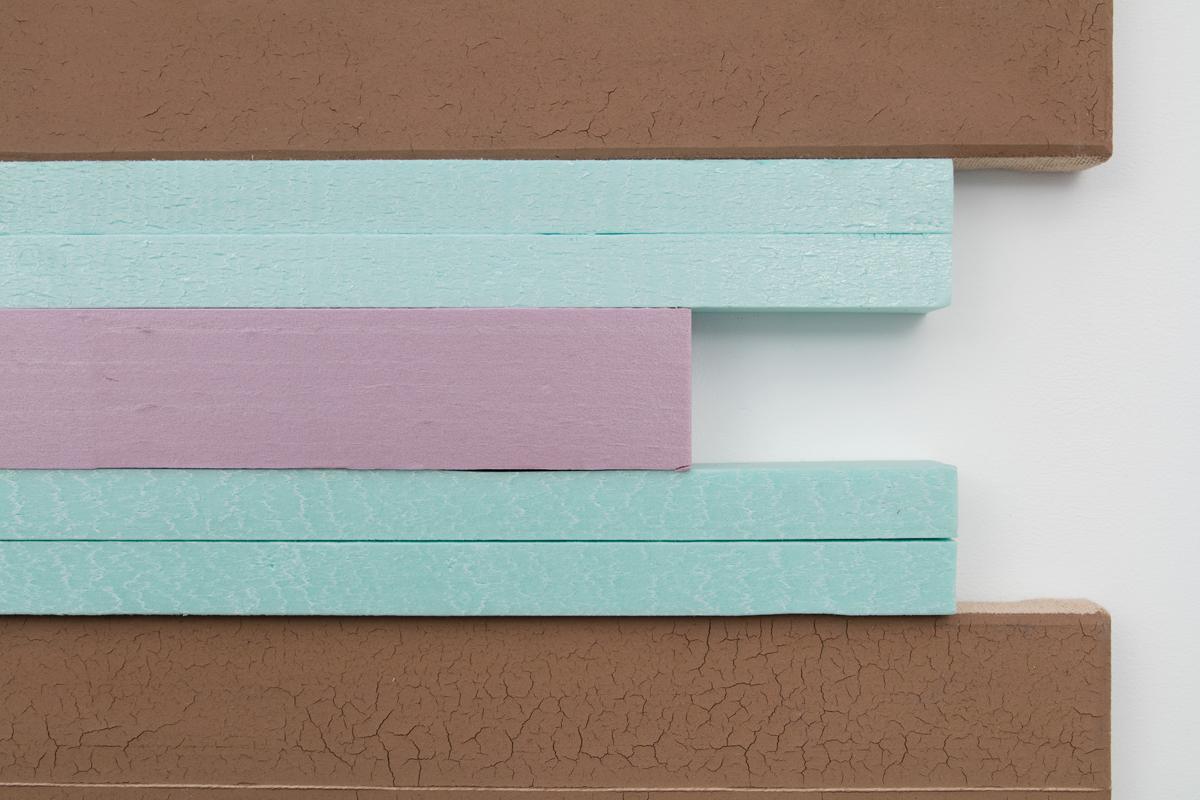 N. Dash Untitled, 2017 (detail); adobe, string, styrofoam,jute, wood support; photo Jean Vong; Courtesy the artist, Casey Kaplan Gallery, New York, and Mehdi Chouakri, Berlin