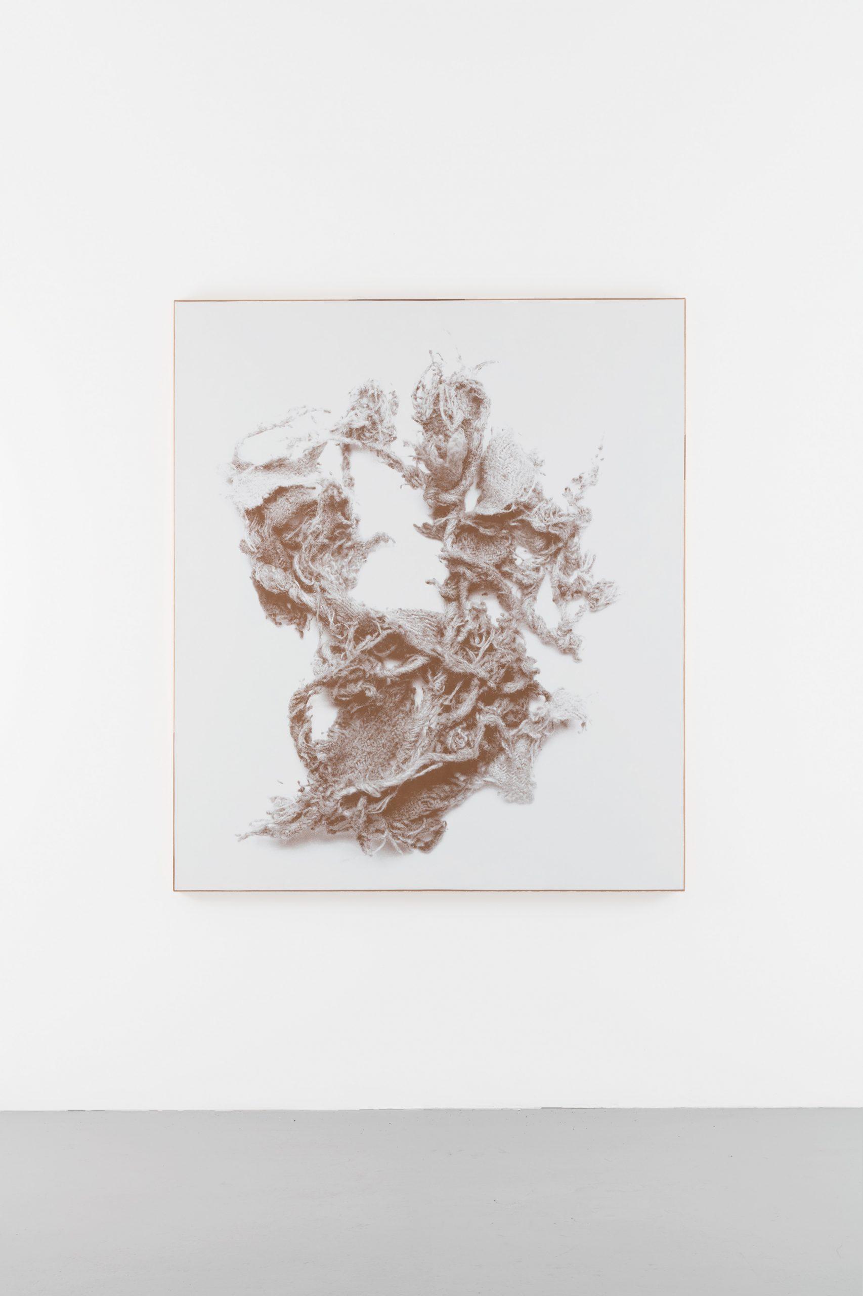 N. Dash Untitled, 2017; silkscreen ink, adobe, jute, wood support; photo Jean Vong; Courtesy the artist, Casey Kaplan Gallery, New York, and Mehdi Chouakri, Berlin