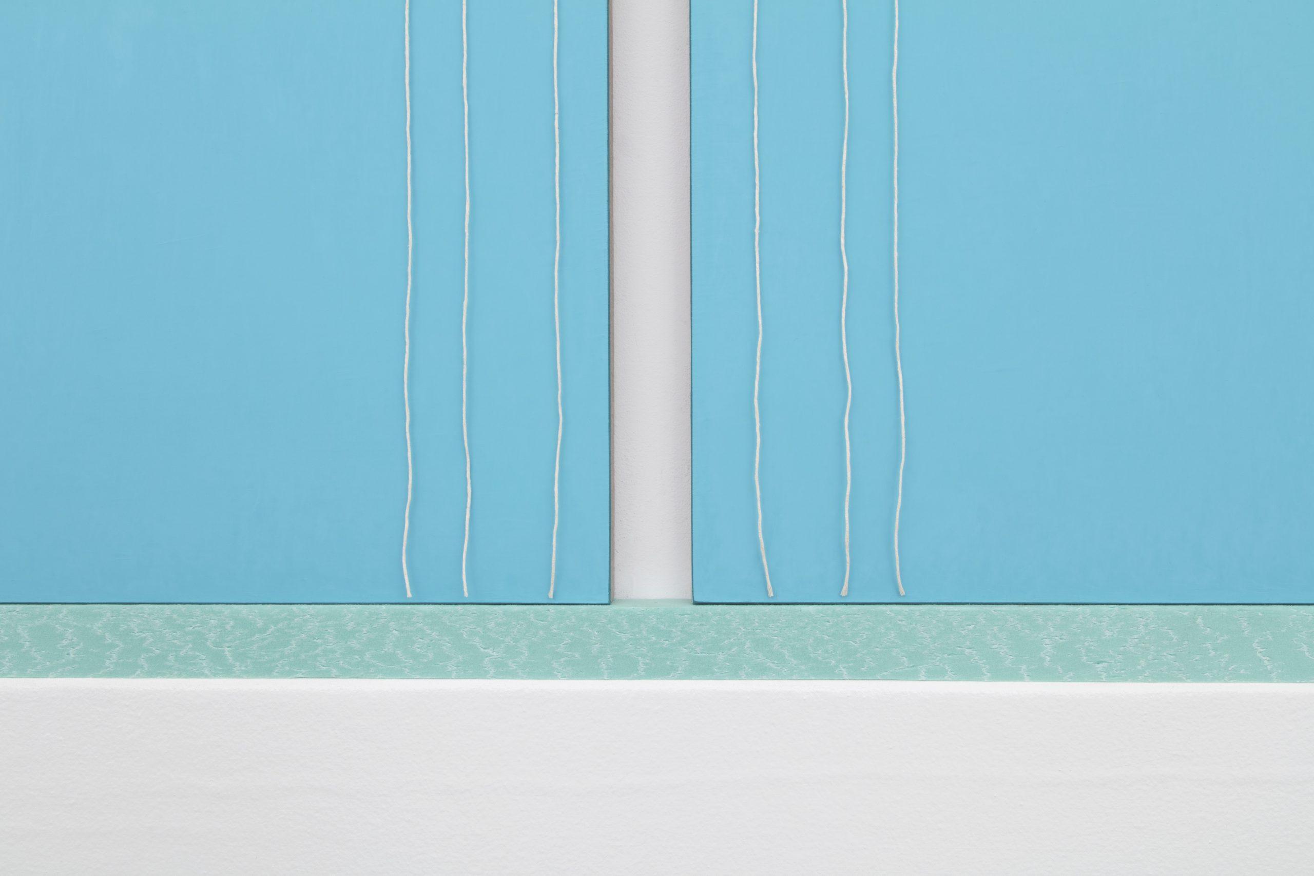N. Dash Untitled, 2017 (detail); adobe, oil, pigment, acrylic, gesso, string, canvas, linen, styrofoam, jute, wood support; photo Jean Vong; Courtesy the artist, Casey Kaplan Gallery, New York, and Mehdi Chouakri, Berlin