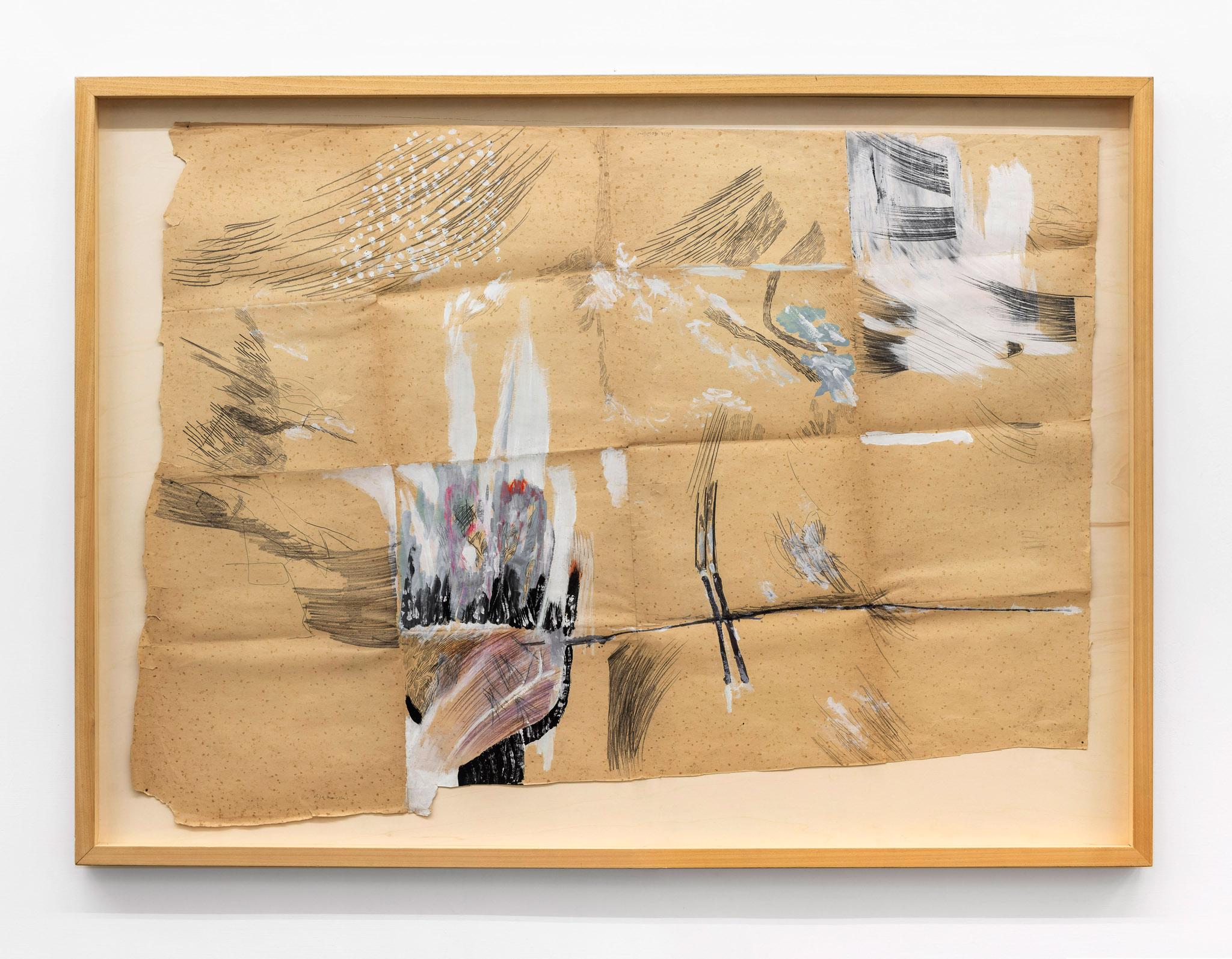 La pittura è totale, 1981 Grafite e tempera su carta da spolvero; 117 x 160 cm;  foto: Giorgio Benni.  Courtesy l'artista e Monitor Roma, Lisbona, Pereto
