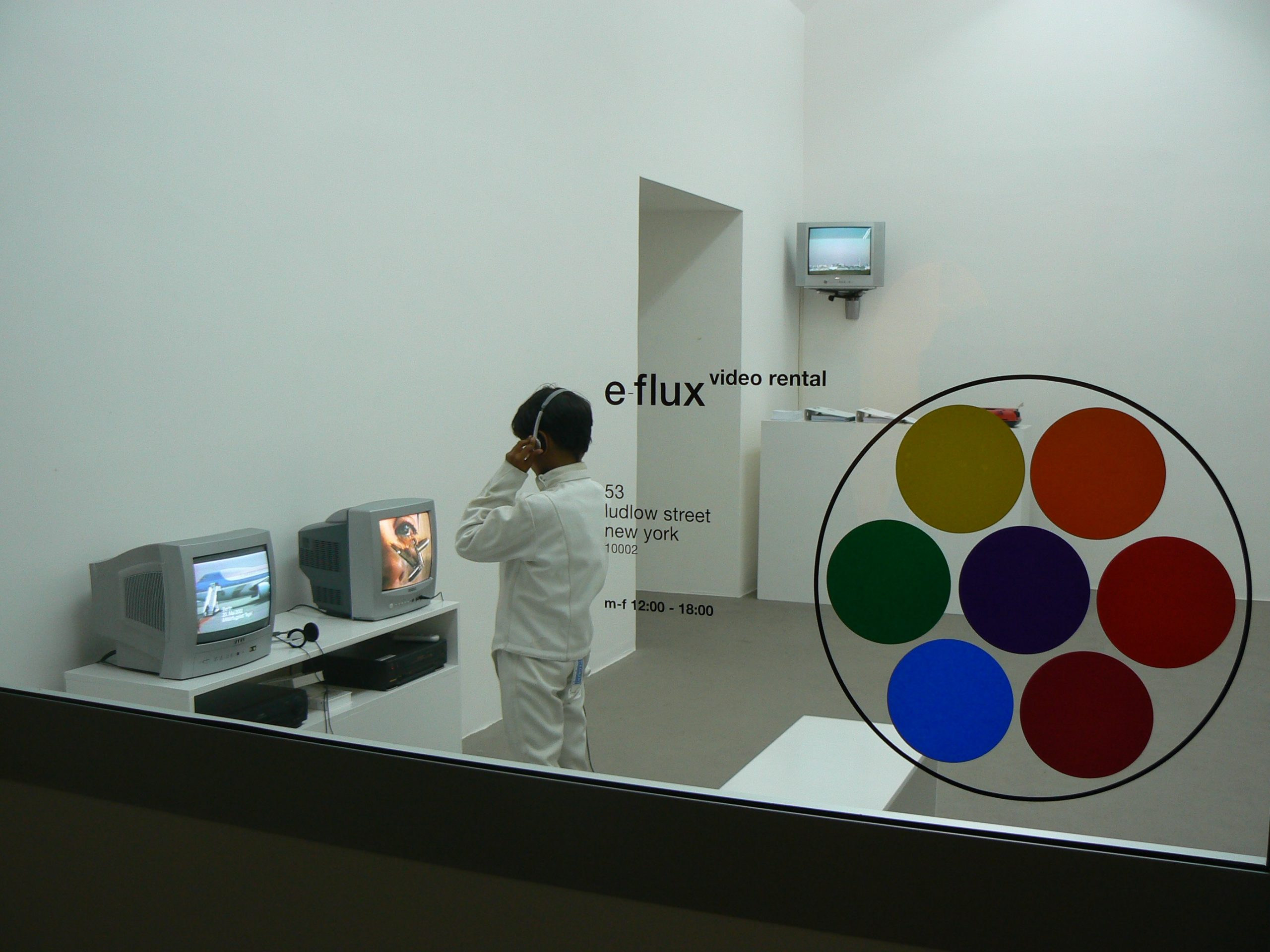 e-flux video rental, Anton Vidokle & Julieta Aranda Fondazione Giuliani, Roma, 2010, veduta dell'installazione, particolare