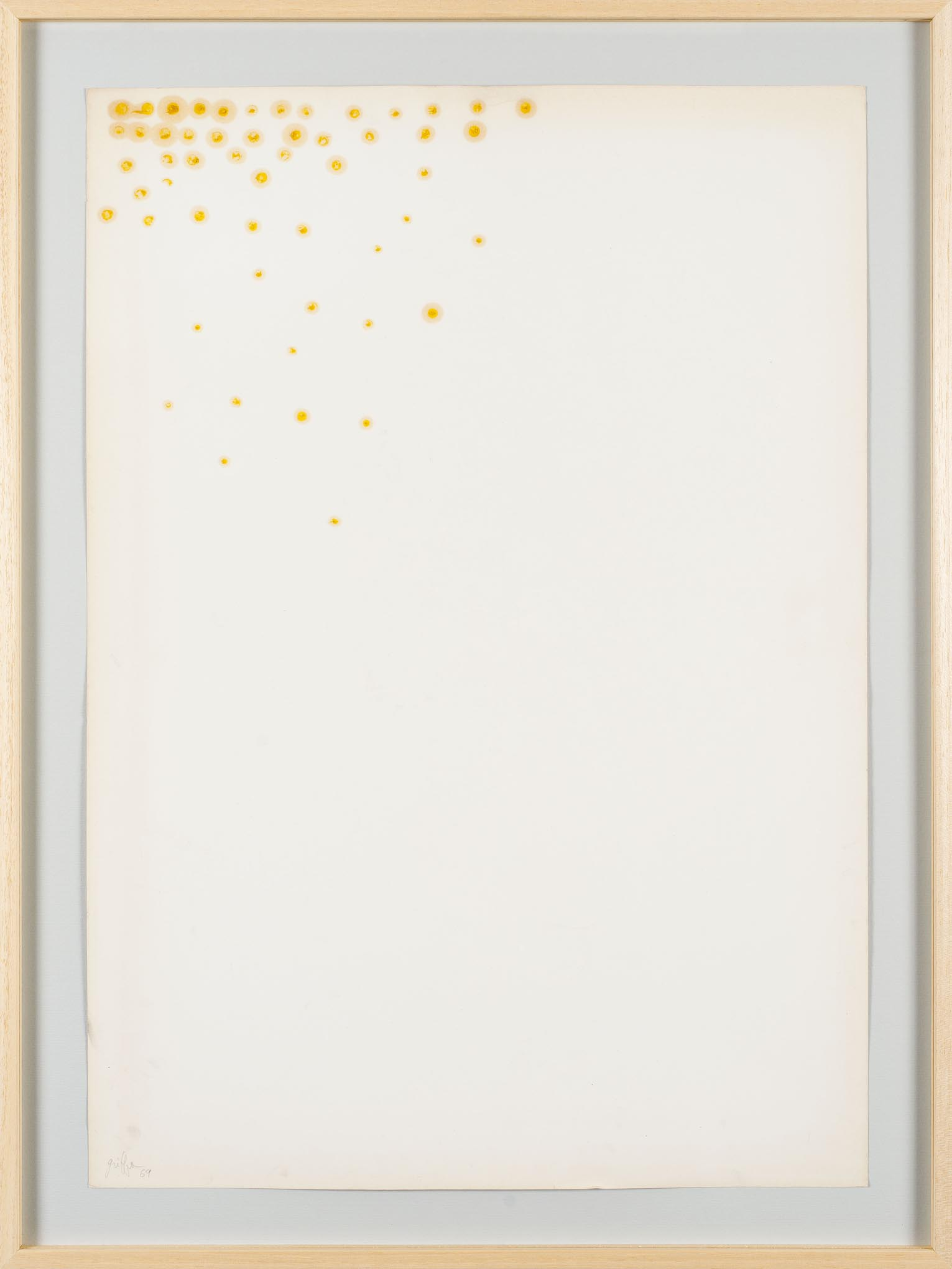 Giorgio Griffa Paper, 1969; Courtesy the artist and Casey Kaplan Gallery, New York