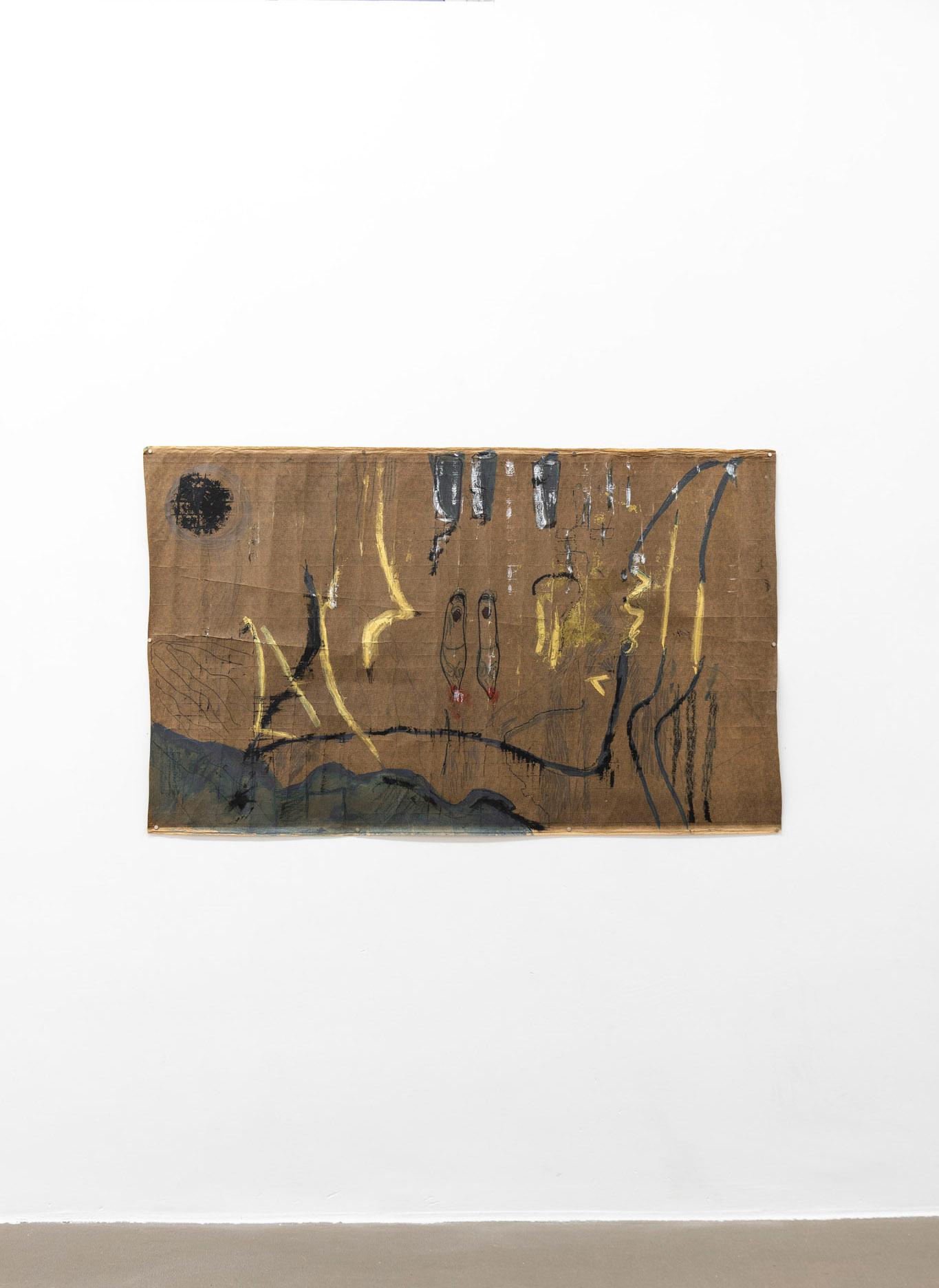Danza, 2020 Tecnica mista su carta catramata; 187 x 101 cm;  foto: Giorgio Benni.  Courtesy l'artista e Monitor Roma, Lisbona, Pereto