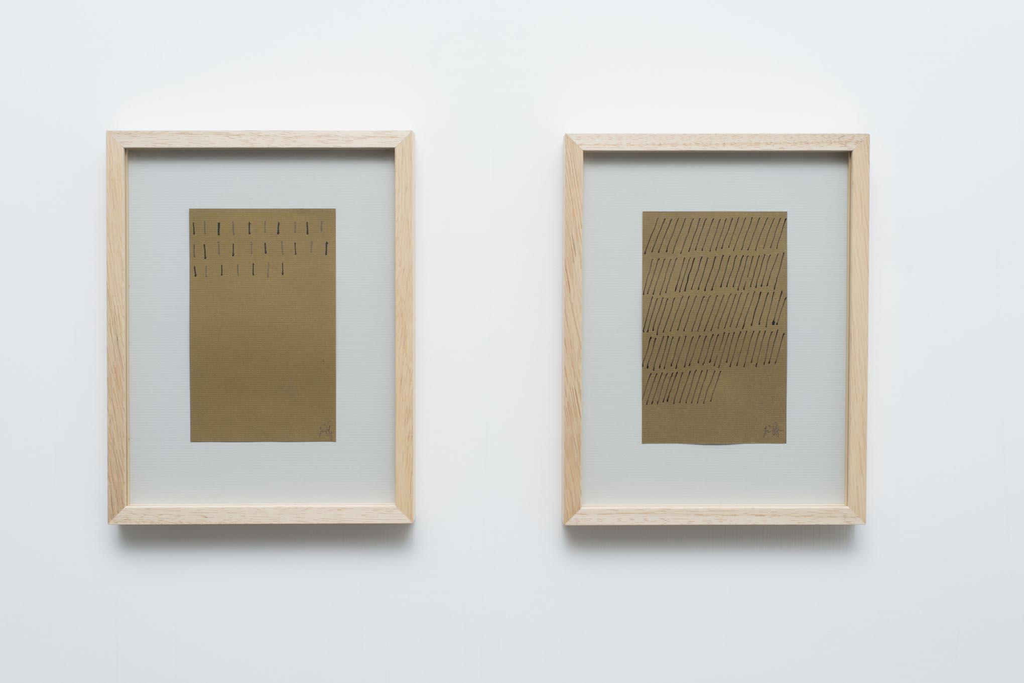 Giorgio Griffa: Works on Paper Installation view, Rome, 2014, photo Giorgio Benni