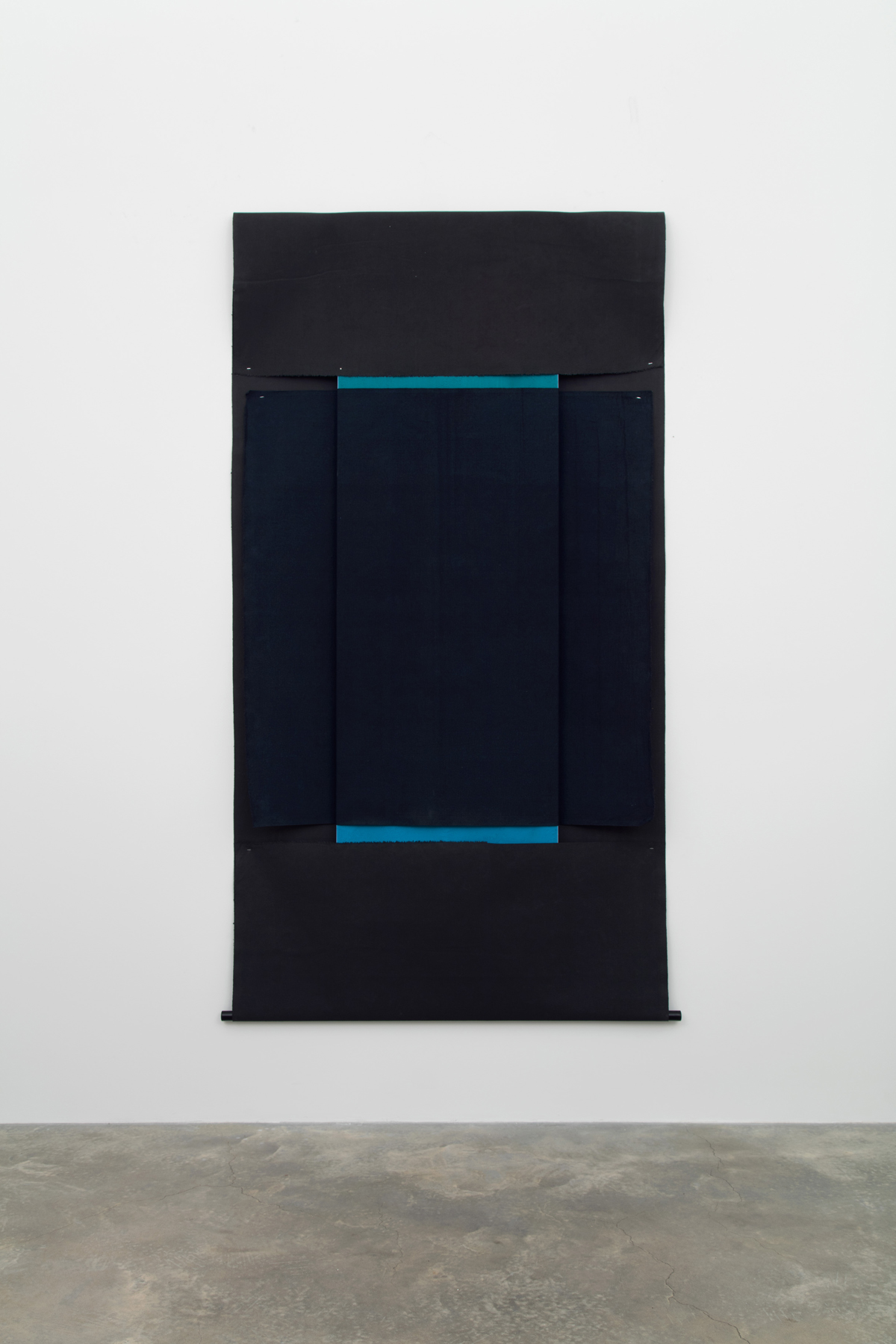 N. Dash Untitled, 2017; oil, pigment, acrylic, linen, wooden stick, wood support; photo Jean Vong; Courtesy the artist, Casey Kaplan Gallery, New York, and Mehdi Chouakri, Berlin