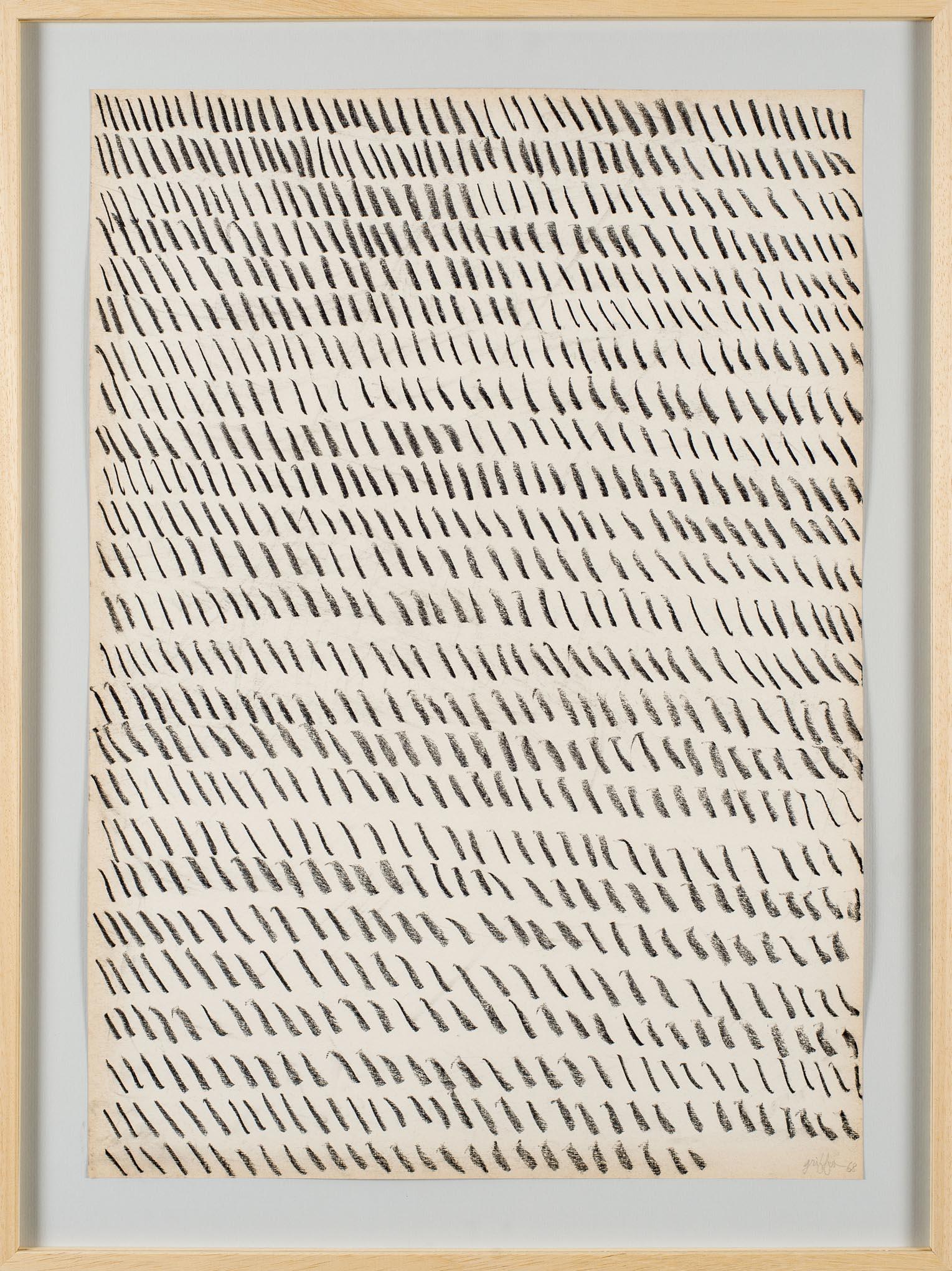 Giorgio Griffa Paper, 1968; Courtesy the artist and Casey Kaplan Gallery, New York